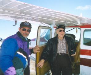Pilot Jim with Rev. Bill Wartes, Teena's dad